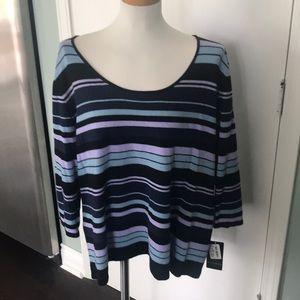 NWT Dana Buchman Woman 3x Cashmere Sweater